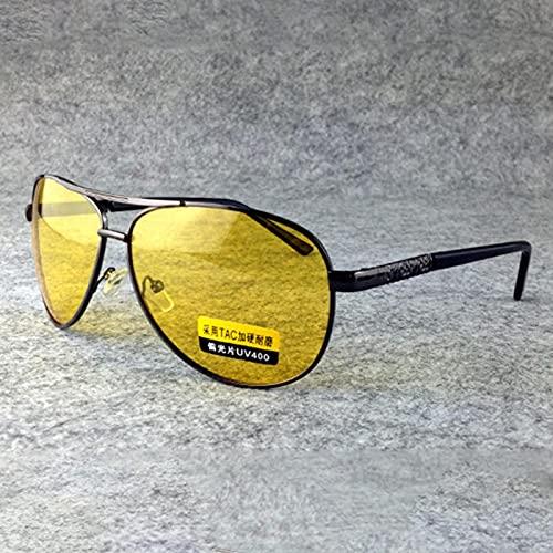 Secuos Moda Gafas De Sol Polarizadas Clásicas De Piloto para Hombre, Gafas De Visión Nocturna A La Moda, Gafas De Conducción De Viaje, Gafas Uv400