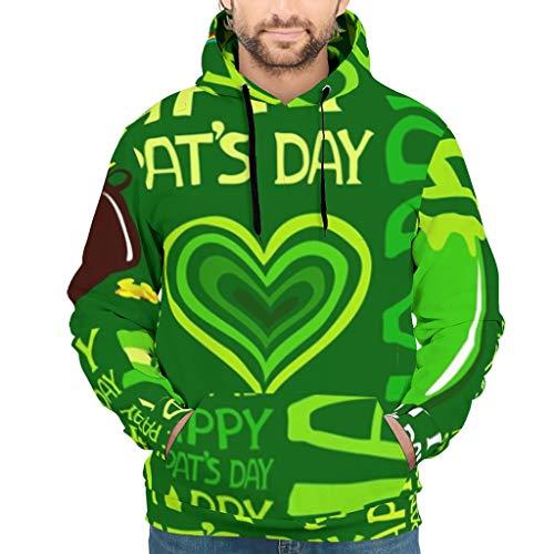 St. Patricks Day groen gelukkige shamrok hart ballen regenboog bier kunstdruk heren capuchon trui cool lange mouwen hoodie sweater trui met zakken body shaper fitness hoodie
