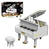 FYHCY Tecnología Piano Cola con Motor, Control de Aplicaciones, Kit de construcción ala Concierto, Modelo con Botones de Trabajo, 2745 Piezas, Bloques de sujeción, Compatible con Piano Lego White
