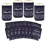Package include 16 packs of beer can sleeves in black color. Durable and flexible material. Each size: each piece about 4 inches in height x 2-3/8 inches in diameter. Fits standard can drink. Yesland can sleeves and covers feature iconic prints to ea...