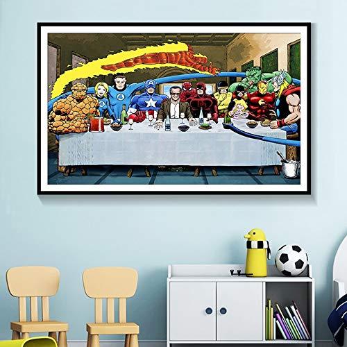 Geiqianjiumai Anime Hero Character Manga Hot Movie Poster Arte de la Pared decoración Moderna del hogar Lienzo Pintura Imagen de la Pared Mural sin Marco Pintura 40x50cm