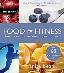 Overtraining recovery needs proper healthy food illustrated by 'Food For Fitness' book cover.