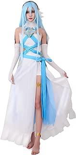 Miccostumes Women's Birthright Singer Azura Cosplay Costume White