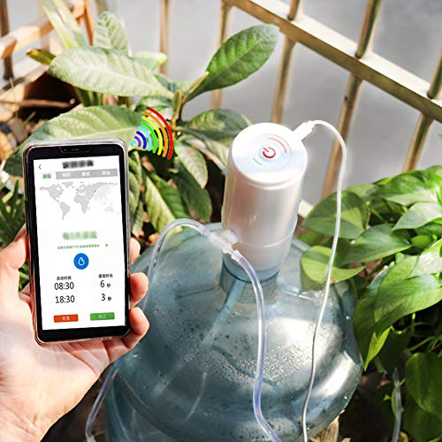 Zhgzhzwlf Smart Indoor Outdoor WiFi Sprinkler System Controller Irrigation Device Automatic Irrigation System for Up to 10 Potted Plants,Filter Included