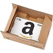 Amazon.de Geschenkkarte in Geschenkbox - 50 EUR (Lächeln)