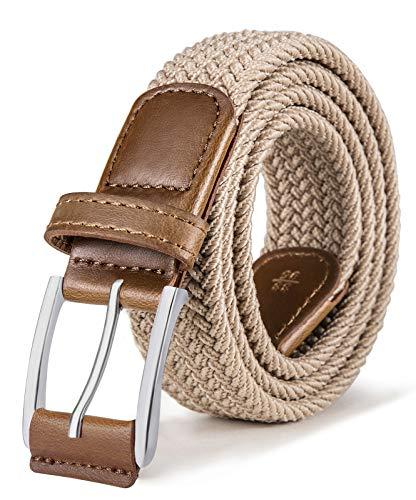 BULLIANT Cinturón Hombre, BULLIANT Cinturón Trenzado Elástico Tejido Extensible y Hebilla de Aleación de Zinc, Ancho 1 3/8