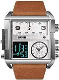 JSL Los hombres s cuadrado gran esfera reloj correa dominante cuarzo reloj de los hombres de negocios s reloj electrónico-8