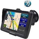 AWESAFE GPS para Coche de 7 Pulgadas con Bluetooth, Navegador GPS para Camión y Coche con...