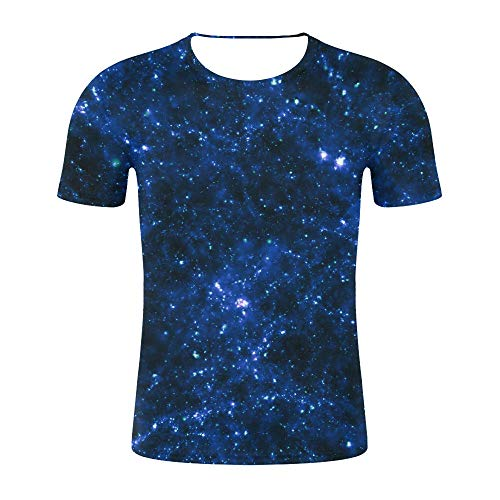 Abbigliamento Specifico Cielo Stellato 3D Stampa Digitale Uomini E Donne Coppia Maglietta A Maniche Corte Moda Sciolto Top-Come Mostrato nella Figura_4XL
