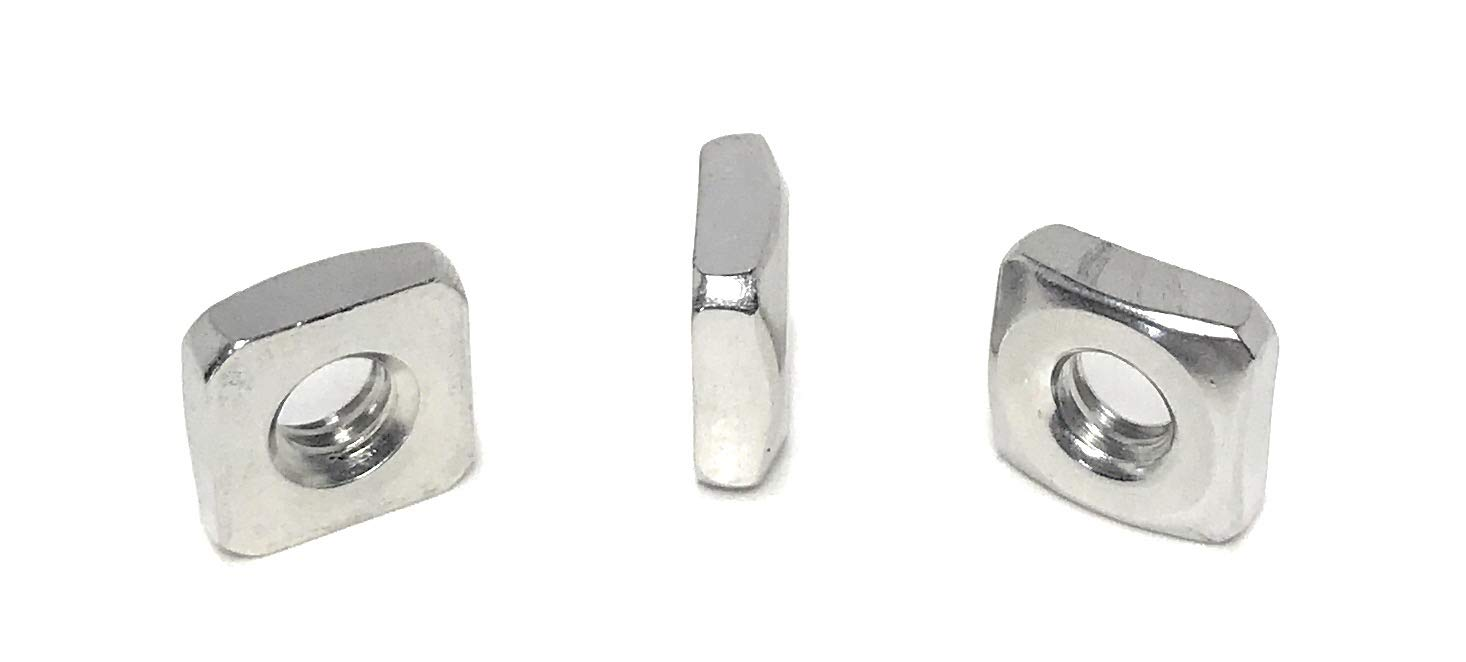 10-24 Stainless online shopping Austin Mall Steel Square 25 18-8 Pcs Nuts