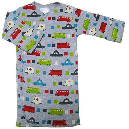 【未熟児】【低出生体重児】【早産児】【NICU】用 ベビー服:長袖長肌着 くるま (1400-2500g)