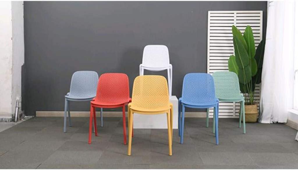 Stable Simple chaise bureau étudiant et chaise de maquillage tabouret retour à la maison à manger chaise d'ordinateur Gratuit (Color : Blue) Yellow