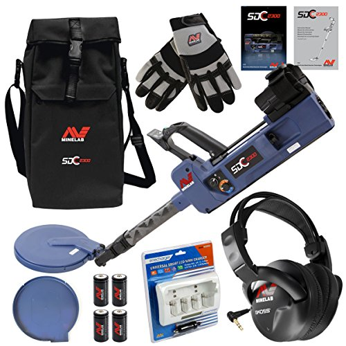 Minelab SDC 2300 Special Bundle with Minelab Gloves, Carrybag, Headphones and Smart Charger