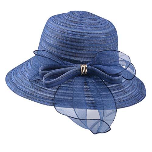 LOPILY Sombrero de Playa con ala Ancha Plegable para Mujer...