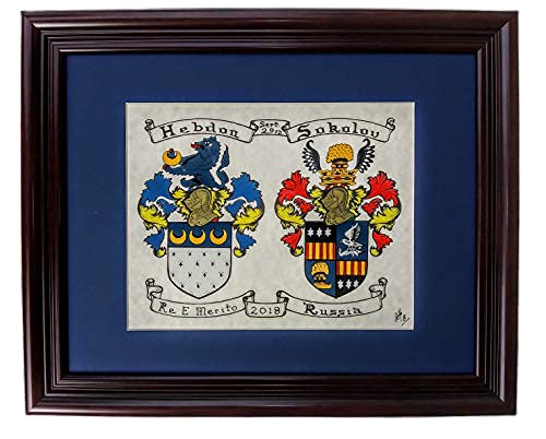 Double New Shipping Free Shipping Coat of Hand-Painted Ranking TOP1 Arms.