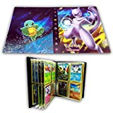 HanFashion Card Album Compatible with Pokemon Cards, Card Holder, Binder Cards Album Book Best Protection Trading Cards Put up to 240 Cards, Mewtwo