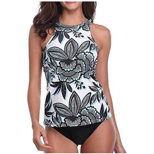 GoodLock Women Tankini Swimsuits Fashion Printed Push-Up Padded Tankini Set Two Piece Swimsuits Swimwear