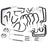 LANTRO JS-30 ganchos de acero combinados, ganchos de almacenamiento, juego de ganchos para tablero de clavijas, organización, herramientas eléctricas, kit de ganchos de almacenamiento para el hogar, p