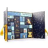 Esportic Calendario de Adviento de Navidad, 24 Cajas Coloridas para configurar y llenar, Reutilizables, niños y Adultos, Calendario navideño, 33,00 x 30,50 x 8,50cm