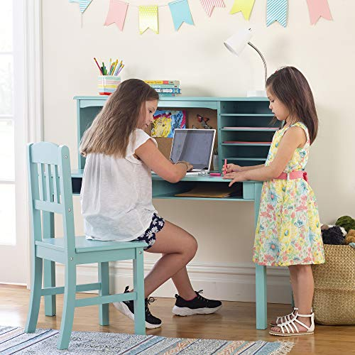 Guidecraft Children's Media Desk and Chair Set – Teal: Student's...