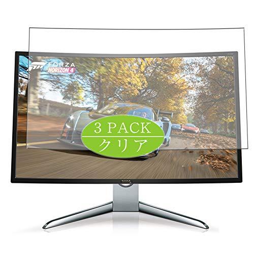 VacFun 3 Piezas HD Claro Protector de Pantalla para BenQ EX3200R / EX3200 31.5' Display Monitor, Screen Protector Sin...