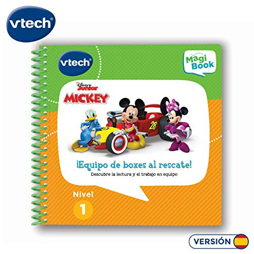 Vtech- Libro para Magibook Mickey al Rescate, aprende en casa, Trabajo en Equipo y relación Causa-Efecto con 8 Actividades y Cientos de interacciones, Nivel 1, 2-5 años (80-481722)