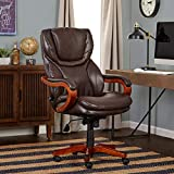 Serta Executive Office Chair, Biscuit