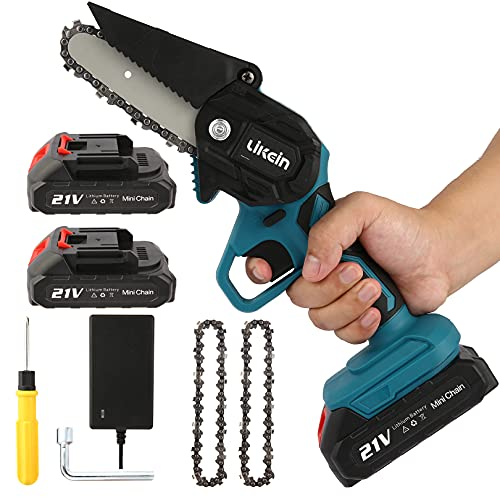 Likein Mini Chainsaw with Safety Lock 4 Inch 21V 2000mAh Only $49.99 (Retail $99.99)