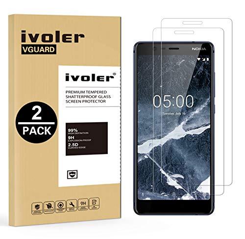 iVoler [2 Pack] Pellicola Vetro Temperato per Nokia 5.1 / Nokia 5 2018 [Garanzia a Vita], Pellicola Protettiva, Protezione per Schermo