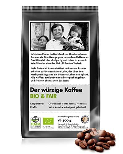 Coffee-Nation BIO & FAIR Der würzige Kaffee 500g Bohne, perfekt für Vollautomaten und Espressomaschinen, fair gehandelt und Bio-Qualität| Spitzenqualität | Kaffeeliebhaber