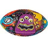 OPTIMUM Pelota de Rugby Space Monster, SpaceMonster, Tamaño 3, Unisex-Adult, Multicolor-Multicolor, Talla 3