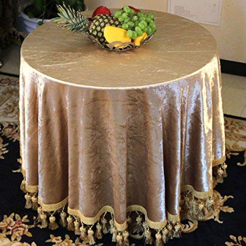 Nappe européenne Nappes européennes Nappe ronde Nappes dorées à chaud Nappes à thé (Couleur : B, taille : Round -140 cm)