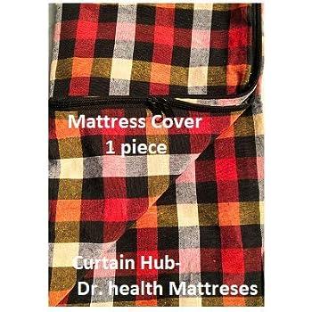 """Curtain hub-Dr. Health mattresses Cotton 50 TC Mattress Cover (72""""X36""""X5""""_Multicolour)"""