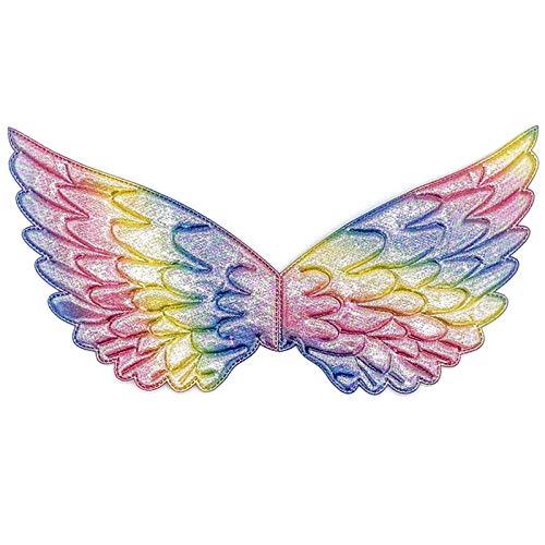 YQF Alas para disfraz de Navidad, Halloween, alas de unicornio, hada, princesa, accesorio para cumpleaños, fiesta de Navidad (Colors 3)