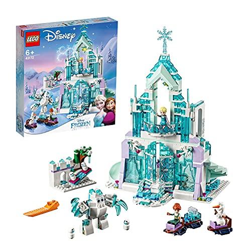 LEGO 43172 Disney Princess Die Eiskönigin Elsas magischer Eispalast, Frozen Schloss, Spielzeug mit ELSA & Anna Mini Puppen und Spielplatz