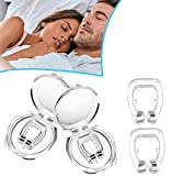 Cefanty Anti Snoring Devices Magnetic Nose Clip Natural Effective Snoring Solution Sleeping Aid Reusable Silicone Snore Stopper for Men and Women Easy Breathing (2Pcs)