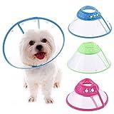 Schutzkragen/Halskrause für Hunde und Katzen, atmungsaktiver und weicher Rand, Verschluss aus Kunststoff