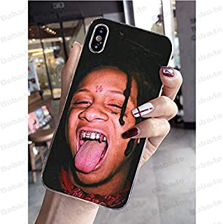Inspired by Trippie Redd Phone Case Compatible With Iphone 7 XR 6s Plus 6 X 8 9 11 Cases Pro XS Max Clear Iphones Cases TPU- Tapestry- Socks- Wallet- Longsleeve- Longsleeve- 33040341806