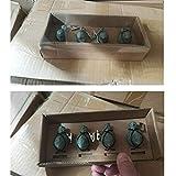 sycamorie 4 x Tischdeckenbeschwerer Tischdeckengewichte Antik Gusseisen 'Vogel' Beschwerer für Tischdecke Gartentisch Tischtuchgewichte Tischtuchbommeln (Grün) - 6