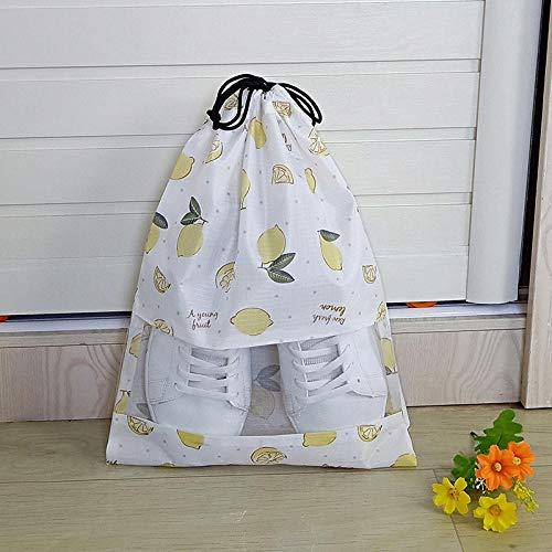 WYMBM 5Pc Schuhablagebeutel Schuhstaubbeutel Transparenter Schuhbezug Reiseschuhbeutel-Weiße Zitrone