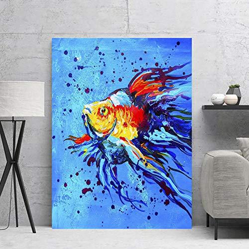 Big Angelfish Canvas Malerei Kunst Poster und Drucke Moderne Kunst Wohnzimmer Schlafzimmer Dekoration Wandbild