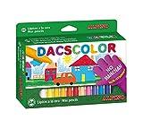 Ceras Dacs 24 colores Alpino - Ceras para Niños - Caja de Ceras de Colores para Material Escolar - Semiblandas, No Manchan, Resistentes, Colores Vivos, Forma Circular 12mm