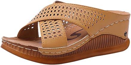 WWricotta Fashion Casual Slip On Hoge Hakken Dikke Platforms Schoenen Outdoor Slippers