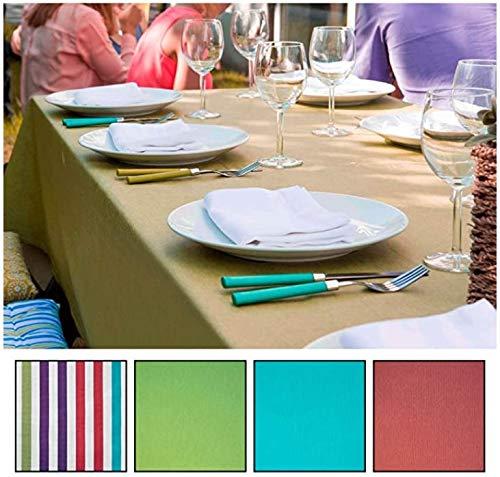 mistral home Tischdecke Gartentischdecke 140x240 cm abwaschbar Teflon beschichtet Wasserabweisend gestreift