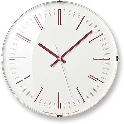 レムノス 掛け時計 ドロー ウォール クロック アナログ 電波時計 赤 KK18-12 RE Draw wall clock Lemnos φ32×d5.6cm