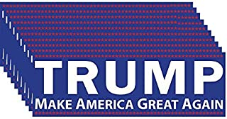 Trump Make America Great Again Bumper Sticker 10 Pack. This Republican Candidate Stands Against Political Correctness & For Conservative Values, the Constitution, & Defeating Crooked Hillary Clinton.