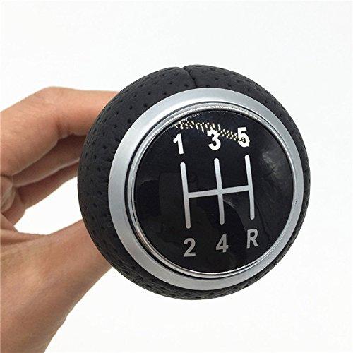 HDCF 5 vitesse manuelle levier de vitesse de levier de levier de voiture poignée de stylo pour A4 S4 B8 8K A5 8T Q5 8R S ligne 2007-2015 bague en argent