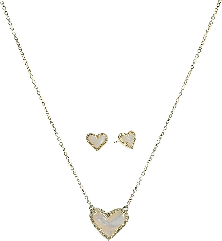 Kendra Scott Ari Heart Pendant & Stud Gift Set