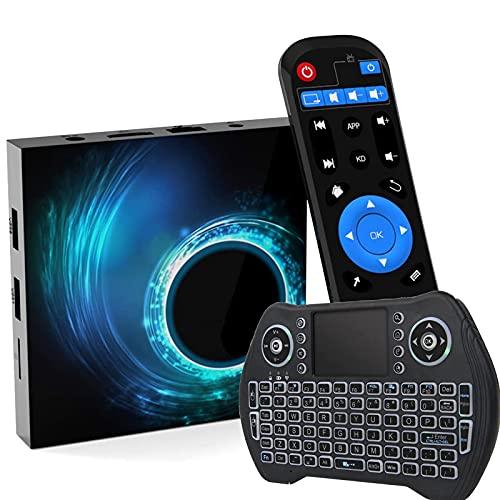 Android TV Box 10.0 2GB RAM 32GB / 64GB ROM 6K Ultra HD, Allwinner H616 64-bit Soporta 3D USB HD H.265 2.4 / 5Ghz Dual WiFi Ethernet Android Box,32G