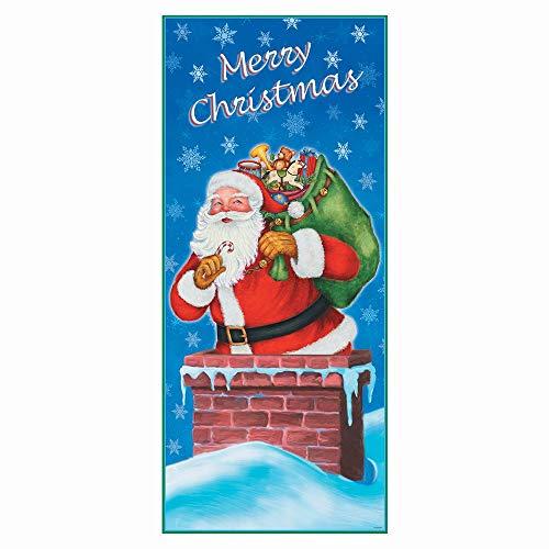 Klassieke kerstfeest benodigdheden Deur Poster Multi kleuren